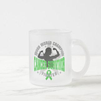 Bile Duct Cancer Tough Survivor 10 Oz Frosted Glass Coffee Mug