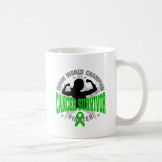 Bile Duct Cancer Tough Survivor Classic White Coffee Mug
