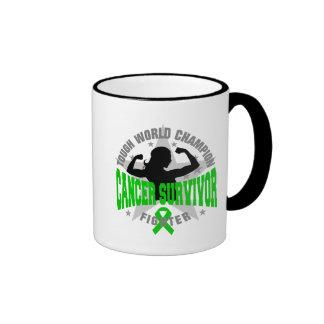 Bile Duct Cancer Tough Survivor Ringer Coffee Mug