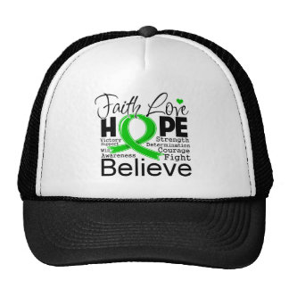 Bile Duct Cancer Typographic Faith Love Hope Hat