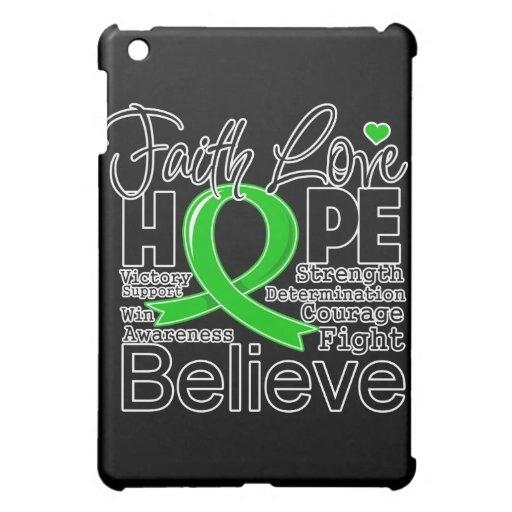 Bile Duct Cancer Typographic Faith Love Hope iPad Mini Cover