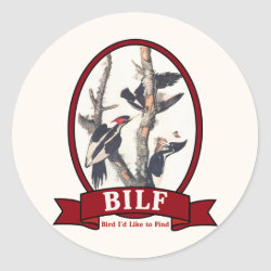 Round Sticker with BILF design