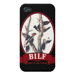 Case Savvy iPhone 4 Matte Finish Case with BILF design