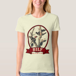 Women's American Apparel Organic T-Shirt with BILF design