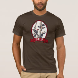 Men's Basic American Apparel T-Shirt with BILF design