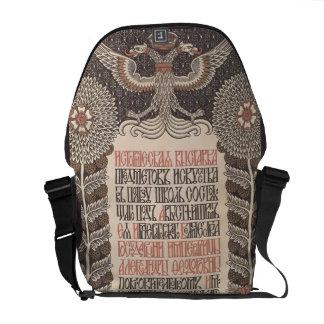 Bilibin's Exhibition Poster messenger bag