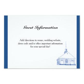 Bilingual Blue Chapel Guest Information Card