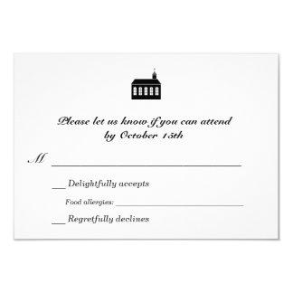 Bilingual Classic Chapel Wedding RSVP Personalized Invitation