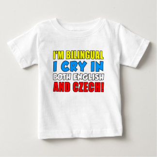 Bilingual Cry In Czech Baby T-Shirt