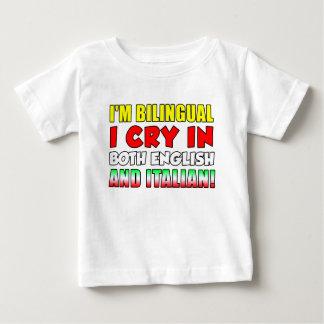 Bilingual Cry In Italian Baby T-Shirt