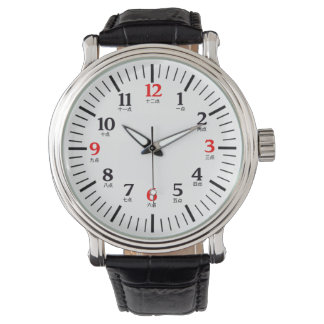 Bilingual English/Chinese Numeral Character Watch