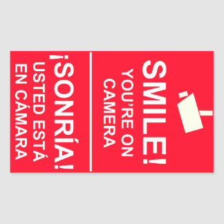 Bilingual English Spanish Video Camera Stickers