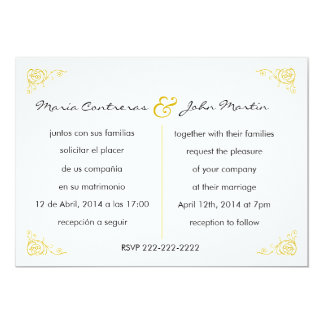 bilingual invitations  announcements  zazzle, Wedding invitations