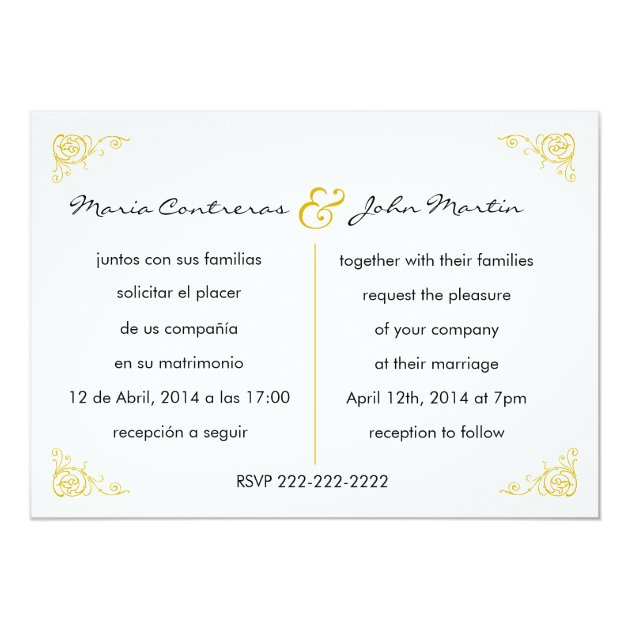 Bilingual English Spanish Wedding Invitation | Zazzle.com