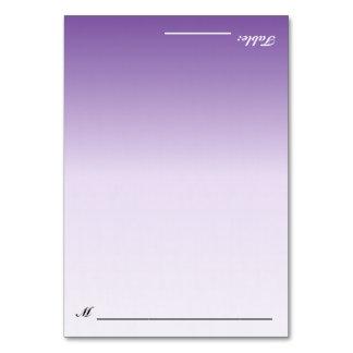 Bilingual Folding Purple Ombre Wedding Escort Card