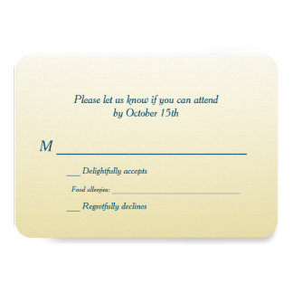 Bilingual Gold Ombre Wedding RSVP Announcement Card