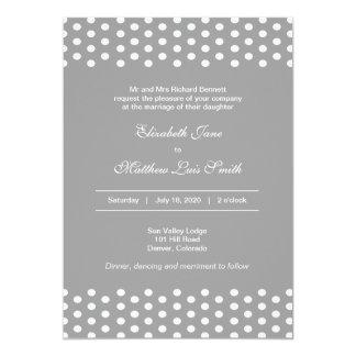 Bilingual Polka Dot Wedding Invitation 2-Sided