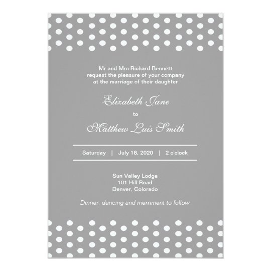 bilingual polka dot wedding invitation 2 sided zazzle com