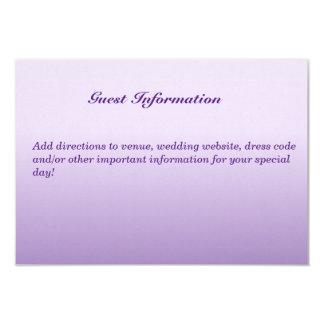 "Bilingual Purple Wedding Guest Invitation Card 3.5"" X 5"" Invitation Card"
