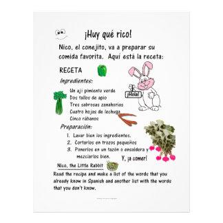 Bilingual Spanish English Worksheet for Kids -Vegg Letterhead