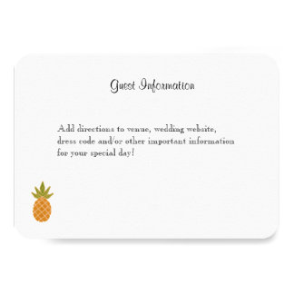 Bilingual Tropical Guest Information Card White