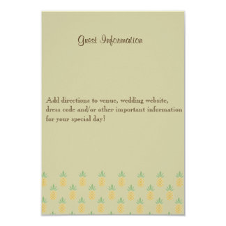 Bilingual Tropical Wedding Guest Information Card