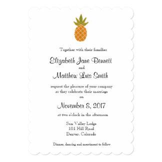 Bilingual Tropical Wedding Invitation 2-sided