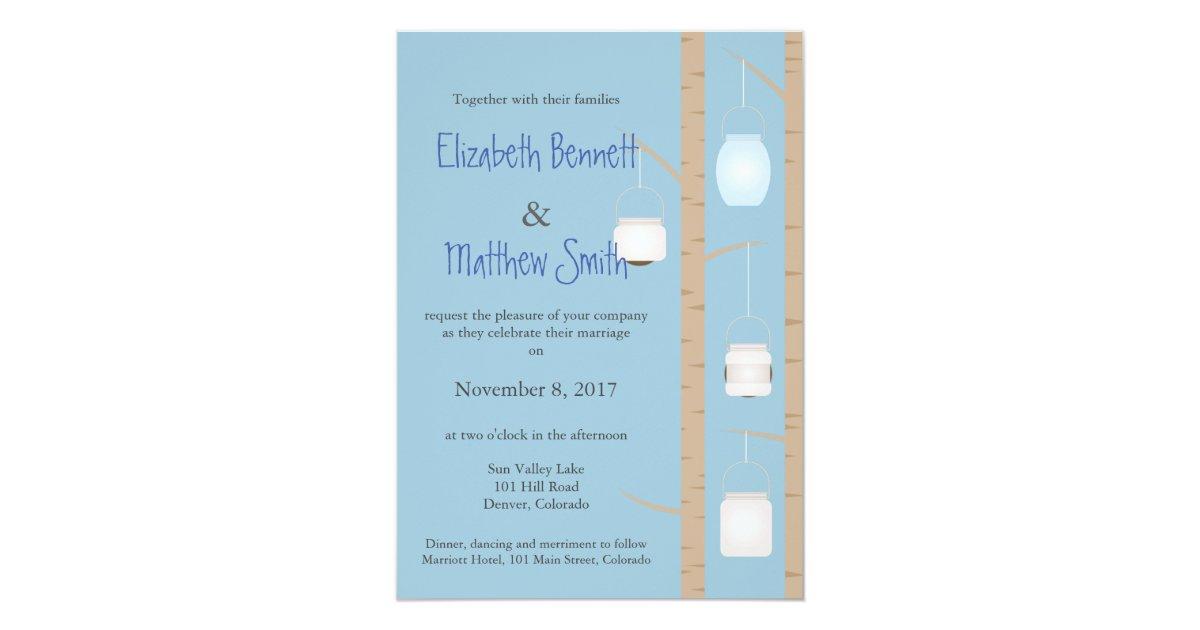 Bilingual Wedding Invitations: Bilingual Woodland Wedding Invitation