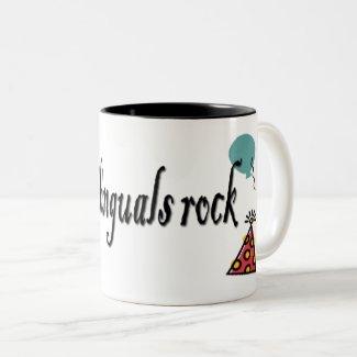 Bilinguals rock ciffee Two-Tone coffee mug