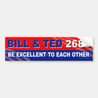 Bill and Ted for President 80's bumper sticker