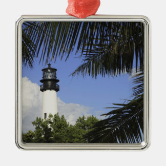 Bill Baggs Cape Florida Lighthouse, Bill Baggs 2 Square Metal Christmas Ornament