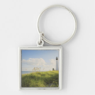 Bill Baggs Cape Florida Lighthouse, Bill Baggs Silver-Colored Square Keychain