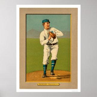 Bill Bergen Dodgers Baseball 1911 Poster