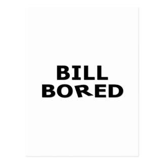 BILL BORED POSTCARD