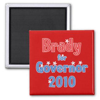 Bill Brady for Governor 2010 Star Design 2 Inch Square Magnet