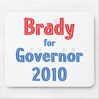 Bill Brady for Governor 2010 Star Design Mouse Pad