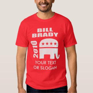 BILL BRADY FOR GOVERNOR TEE SHIRT