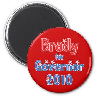 Bill Brady para el diseño de la estrella del gober Imán Redondo 5 Cm