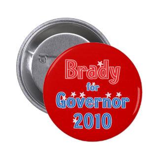 Bill Brady para el diseño de la estrella del gober Pin Redondo 5 Cm