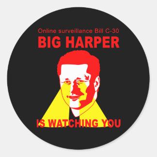 Bill C-30 BIG HARPER Sticker