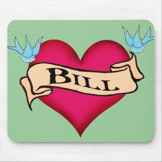 Bill - camisetas y regalos de encargo del tatuaje tapetes de raton