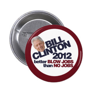 Bill Clinton 2012 Pin Redondo 5 Cm