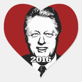 Bill Clinton 2016 Candidate Heart Stickers