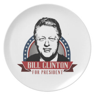 BILL CLINTON 2016 SPANGLE -.png Dinner Plates
