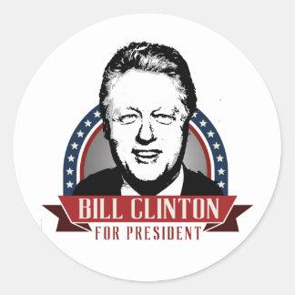 BILL CLINTON 2016 SPANGLE - png Round Sticker