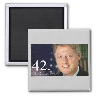 Bill Clinton 2 Inch Square Magnet