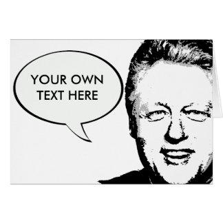 Bill Clinton 2 Tarjeta De Felicitación