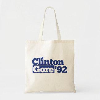 Bill Clinton Al Gore 1992 retro politics Canvas Bags