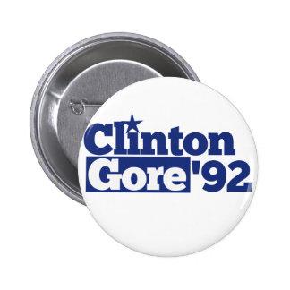 Bill Clinton Al Gore 1992 retro politics Buttons