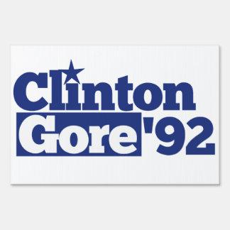 Bill Clinton Al Gore 1992 retro politics Lawn Sign